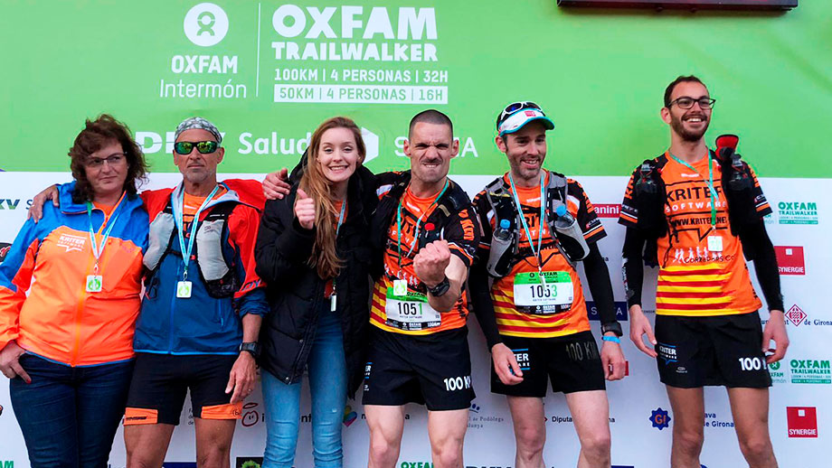 Kriter Software el primer equipo en cubrir los 100km de la Solidaridad OXFAM Trailwalker 2019 Girona