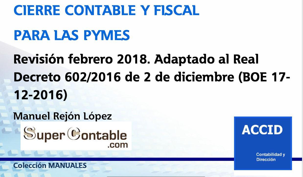 Cambios en la contabilidad y fiscalidad de las PYMES